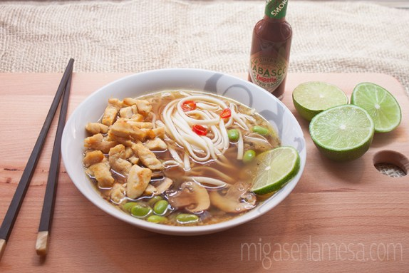 Sopa picante pollo noodles 5