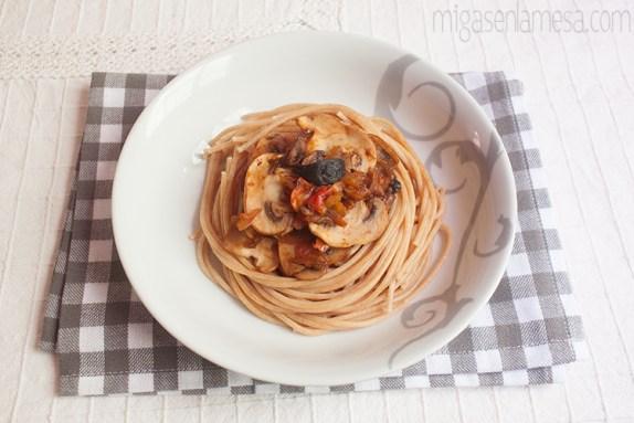 Spaghetti tomates asados 2