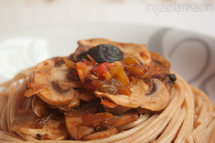 Spaghetti tomates asados 4