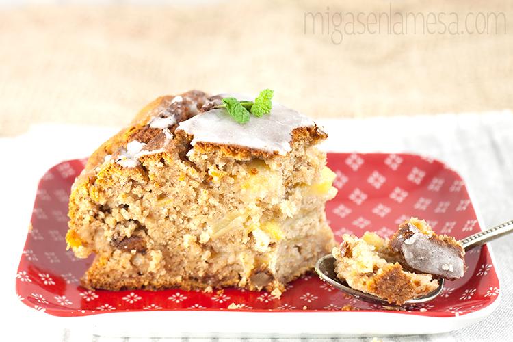 COFFEE CAKE DE MANZANA Y NUECES, SIN LACTOSA [Es decir, tarta de manzana]