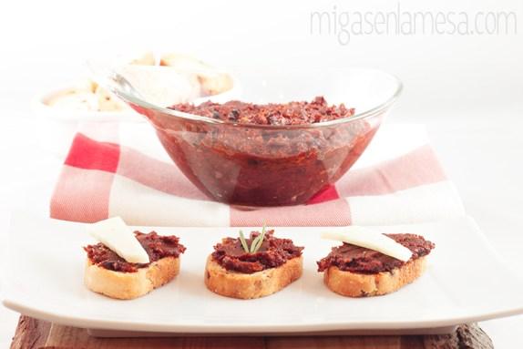 Sobrasada vegana, o pesto de tomates secados al sol