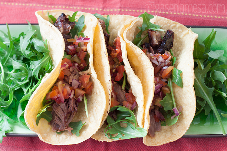 TACOS DE CERDO CON PICO DE GALLO [Made In Spain… como se ha podido]