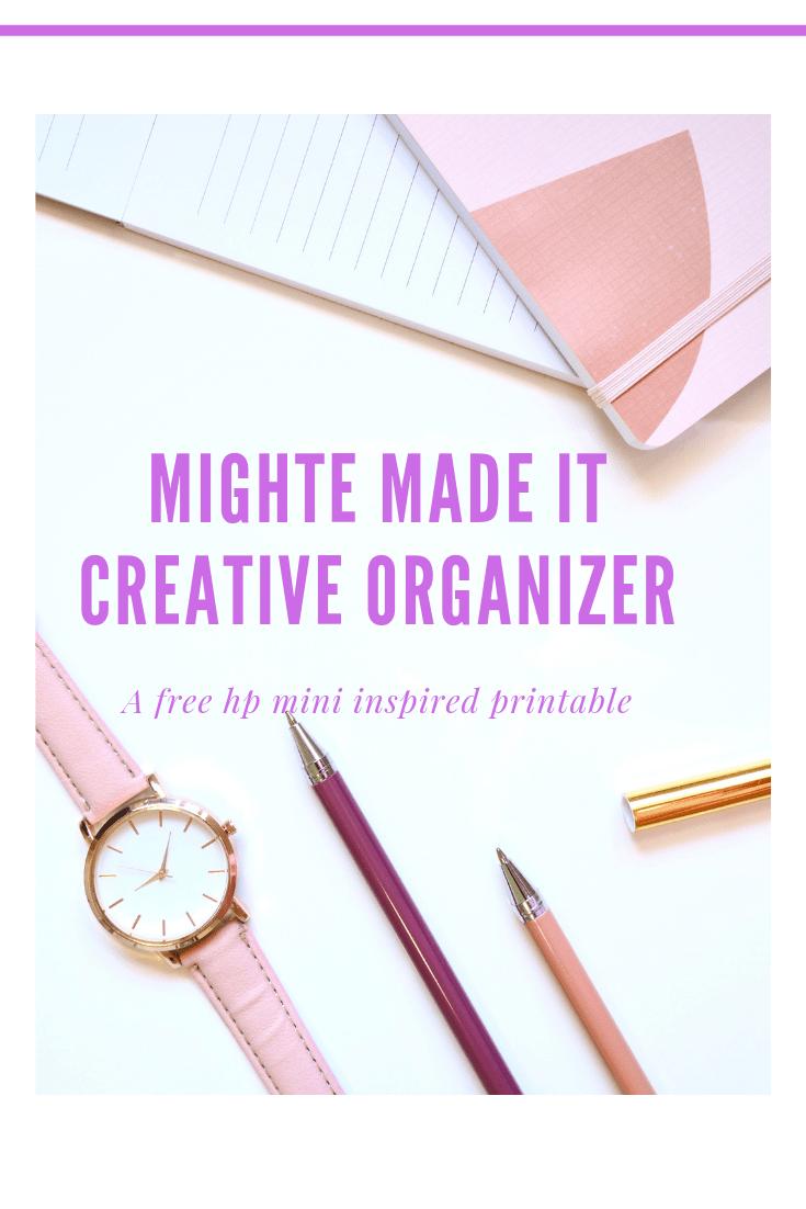 Creative Organizer (Custom Planner Printable)
