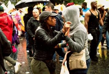 Street Party, Rain, Dancing, dancing in the rain