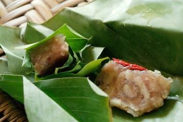 Laos, street food, pork