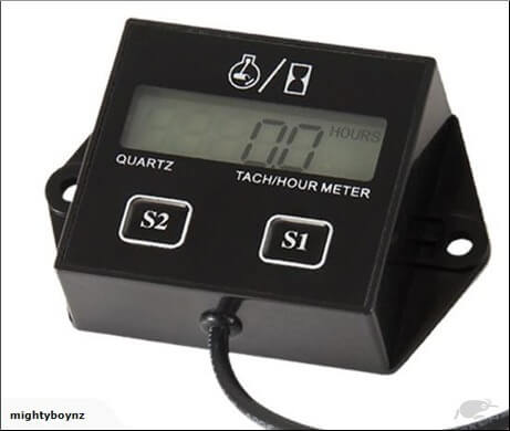 Hour Meter / Rev Counter - Resettable. Replaceable Battery