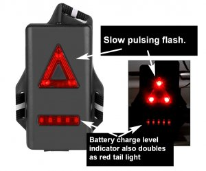 Joggers Torch flashing tail light