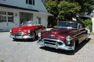 Larry's used to be cars, the 1949 convertible and 1950
