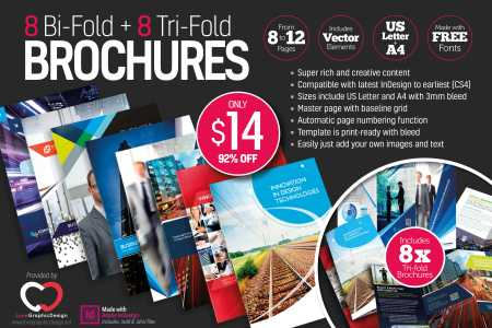 8 Print Ready InDesign Bi Fold   Tri Fold Brochure Templates   only     8 Print Ready InDesign Bi Fold   Tri Fold Brochure Templates   only  14