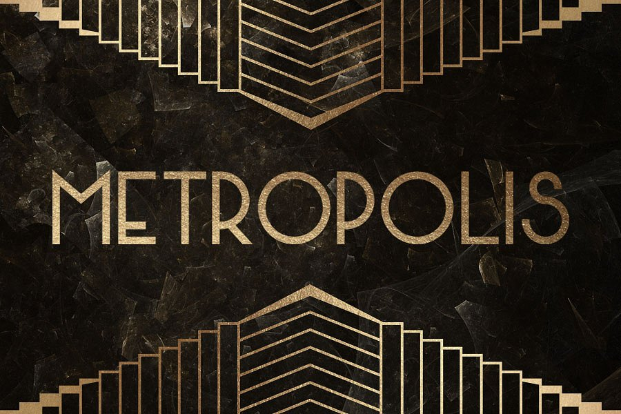 100 Art Deco Fonts Badges Borders And Backgrounds