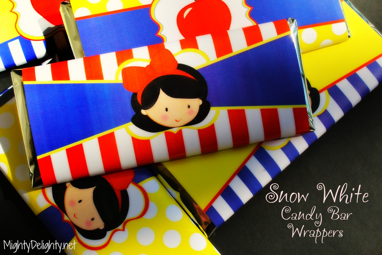 Snow White Hershey S Printable Candy Wrapper Bars