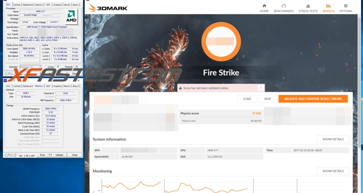 More AMD Ryzen 1700X benchmarks leak