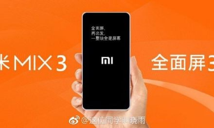 Xiaomi Mi Mix 3 set to launch on October 15th