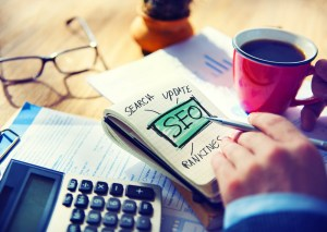 SEO for websites - Image: man sketching about SEO