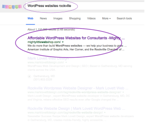 Affordable WordPress Websites for Consultants, circled