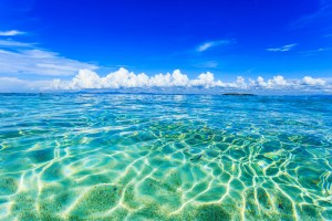 blue water and horizon