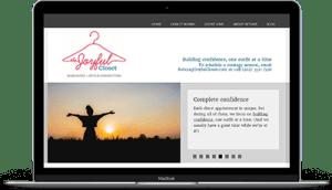 Joyful Closets web page
