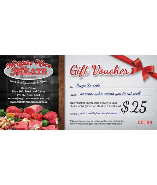 Fresh Meat Gift Voucher