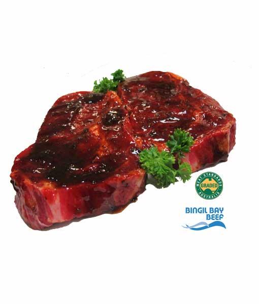 scotch fillet steak rib fillet steak marinated grass fed