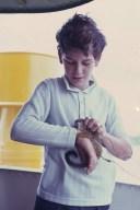 Boy and pet on the Lobo D'Almada