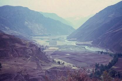 Fertile valley near Cusco