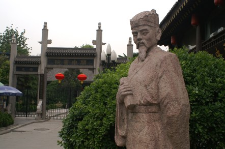 Statue of Confucius at Bei Ling Museum in Xi'an