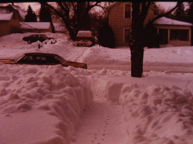 My dad took this photo back in the '70s. Guessing someone had their worst driving experience during this storm.
