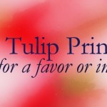 Tulip Favor Watercolor | Free Spring Printable