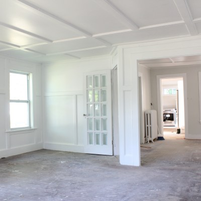 Essex Ave Flip: Living Room Progress
