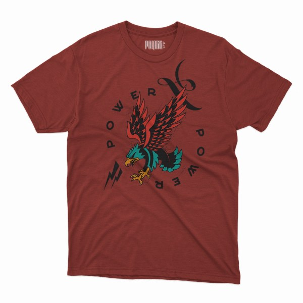 Power Eagle red shirt