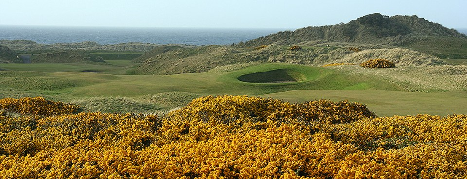 Gorse, grass and bunkers; golf doesn't more linksy than at Castlerock Golf Club.