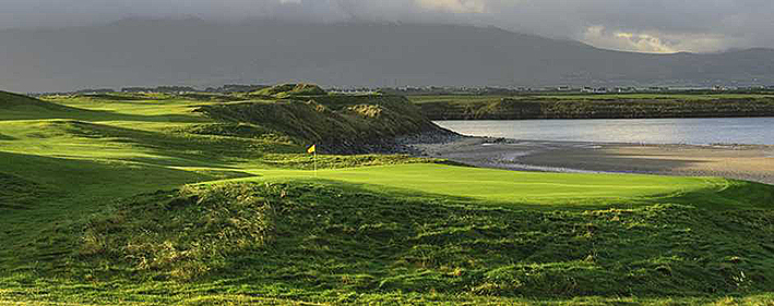 As links as links can be: The 3rd hole at Tralee.