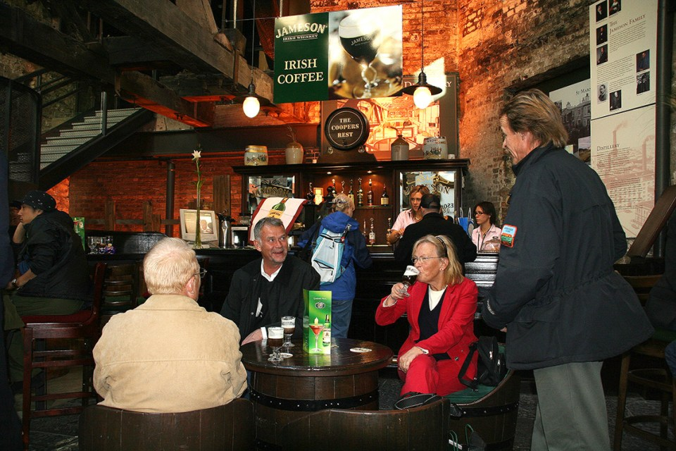 A visit to the Jameson distillery in Bow Street in Dublin is the perfect finish to a perfect day.