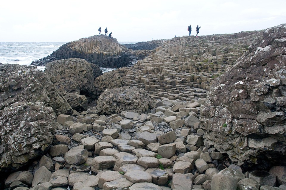 Giant's Causeway is a result of underground eruptions 60 million years ago.