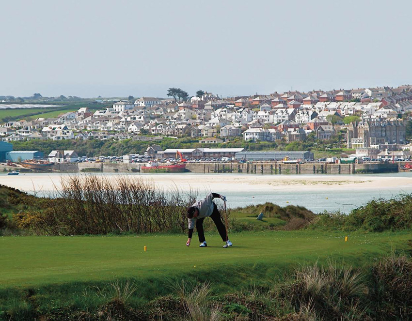 St. Enedoc Golf Club is a James Braid design, situated just across the bay from the fishing village of Padstow.  (Photo: Margaret Kallevig / The Migrant Golfer)