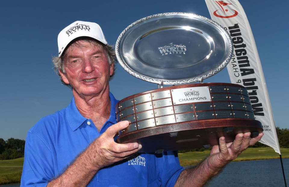 The World Amateur Championship is played over 61 different courses. The 2014 World Champion was 9-handicapper Dennis Rasku from Florida, USA.