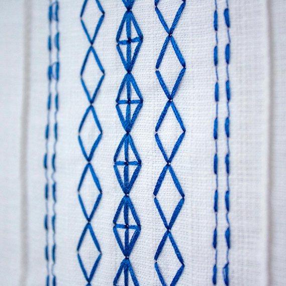 Guayabera azul