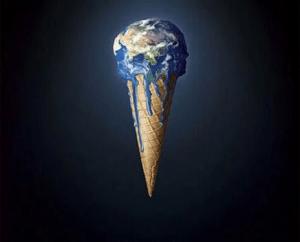 Figura 2: La Tierra se derrite. Fuente: Blog Paraísos Perdidos