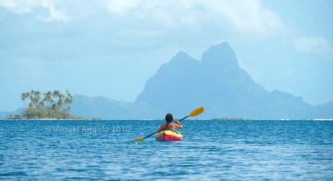 Bora Bora vu depuis Tahaa