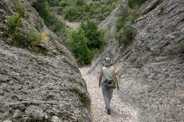 Le sentier suit le fond du barranco