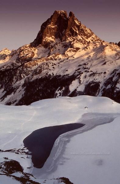 Pic du Midi d'Ossau depuis Ayous, 1991