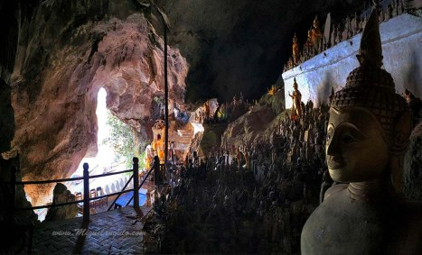 Grottes de Pak Ou, ornées de milliers de statuettes de Bouddha