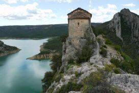 Ermita de la Pertusa en 2010, niveau de l'eau : 482m