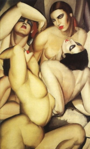 Cuatro desnudos femeninos - Tamara de Lempicka