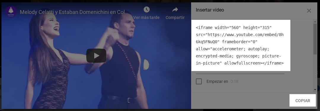 Insertar videos de Youtube en WordPress
