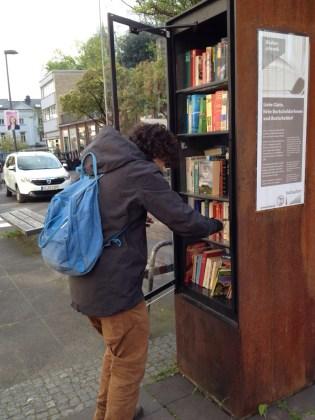 Biblioteca callejera en Aquisgrán