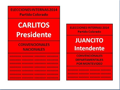 Listas para la intendencia de Montevideo