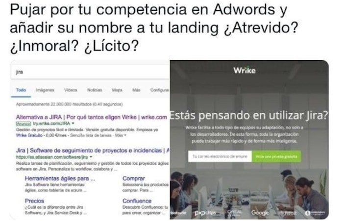 competencia desleal en adwords
