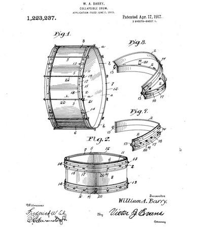 patentar un tambor