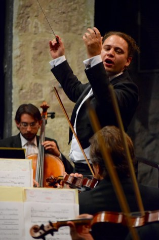 2015, Michoacan Symphony Orchestra. On Les adieux by Liszt. Teatro Ocampo, Morelia, Mich. Mexico. Photo, Ramon Merino